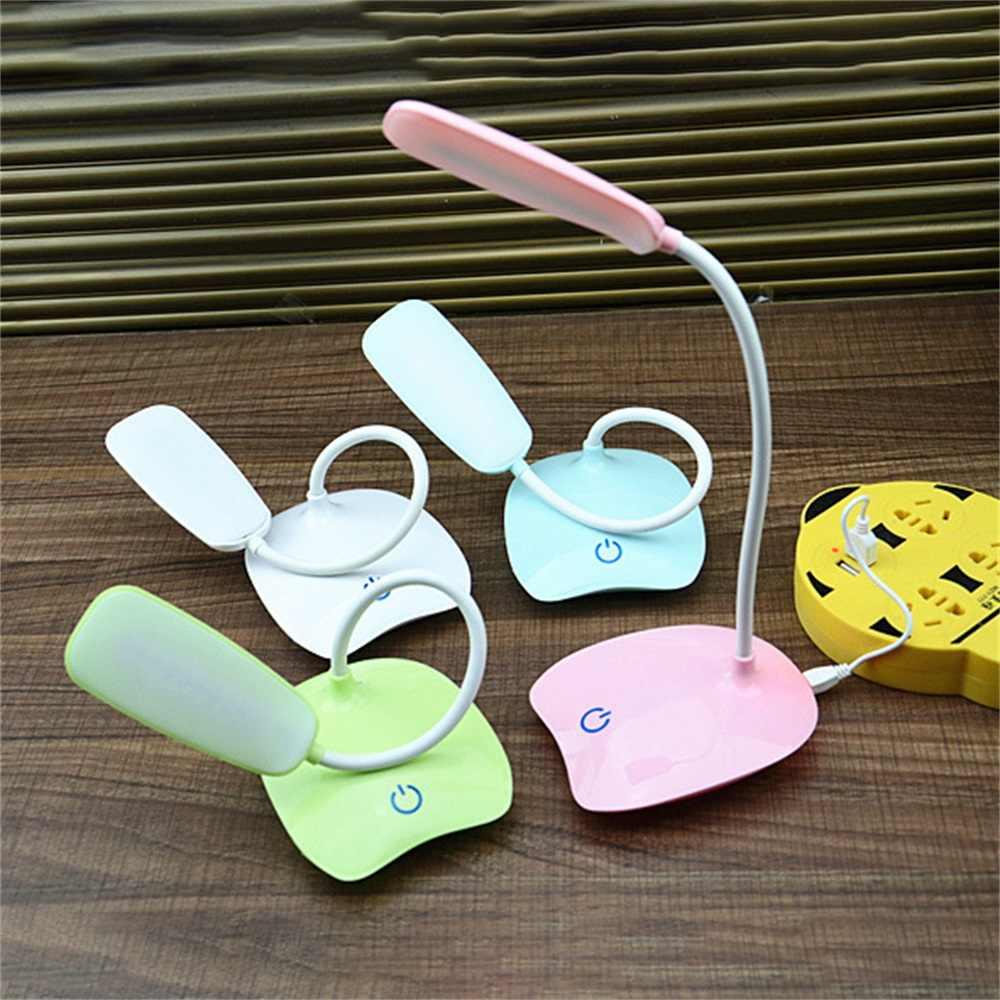 IVYSHION 35*10*13 см 1,5 Вт USB Настольная лампа с зарядкой 3 режима регулируемый светодиодный настольный светильник 4 цвета