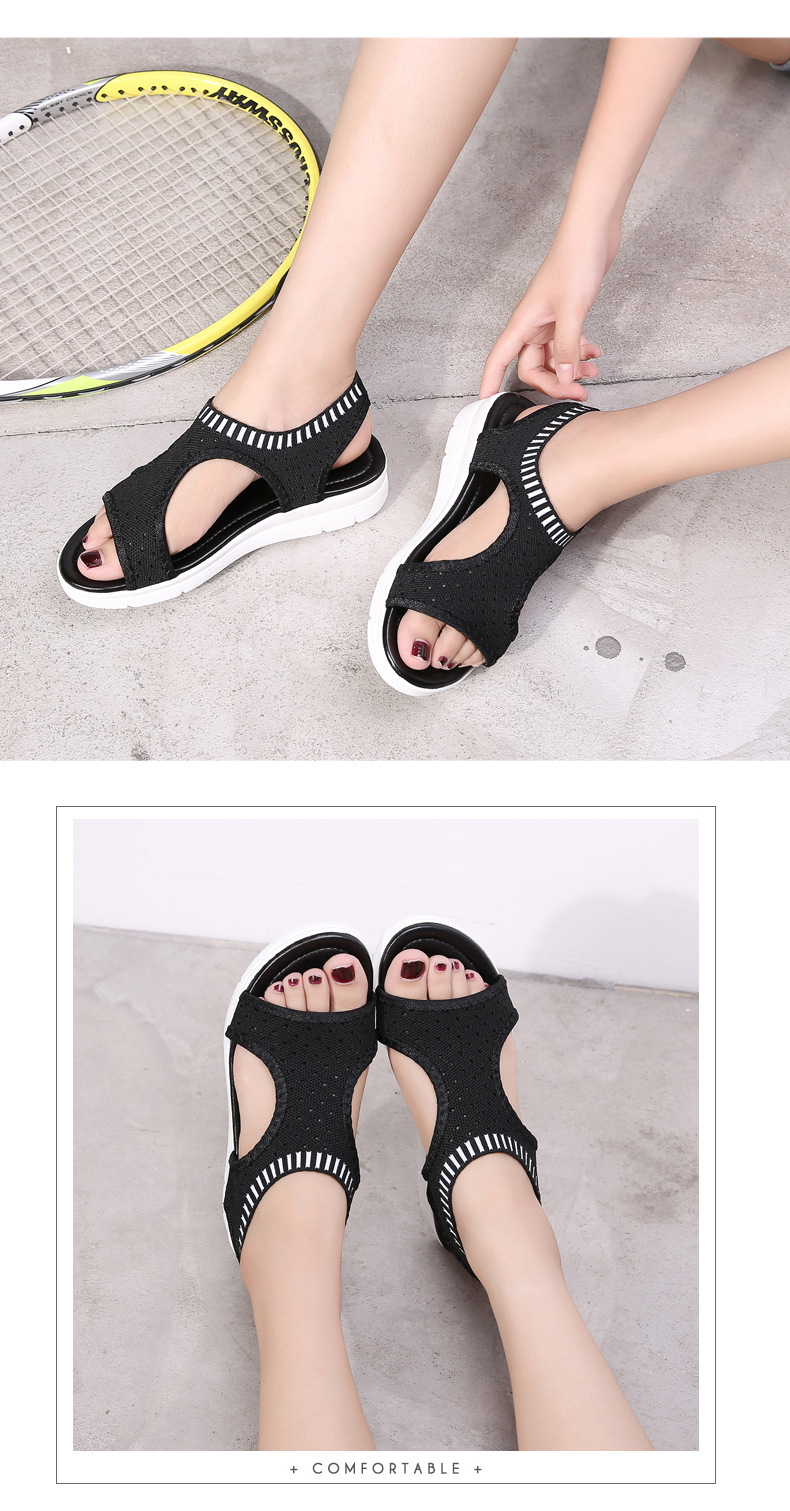 HTB1cGu iBjTBKNjSZFNq6ysFXXaC MLANXEUE Fashion Women Sandals For 2019 Breathable Comfort Shopping Ladies Walking Shoes Summer Platform Black Sandal Shoes