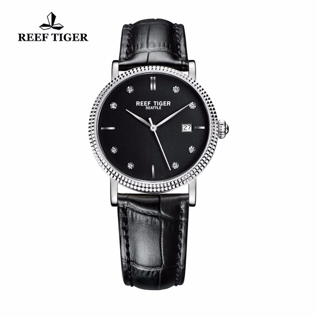 New 2017 Reef Tiger/RT Watches Business Watches With Date Men Automatic Designer Watches Steel Case with Diamonds Markers RGA163