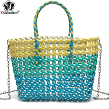 Fashion Womens Summer Handbags Handmade Woven Bags for Women Bohemian Beach Shoulder Bag Large Crossbody Borsa Mare