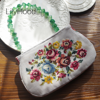 Floral Embroidery Flap Bag Vintage High Quality Designer Messenger Bag Lady Stylish Retro Chic Rustic Crossbody Bag for Women embroidery