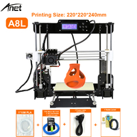 New Hot Sale Anet A6 A8 3D Printer Easy Assembly DIY 3D Printer With SD Card USB Connection USA EU Russian Free Tariff