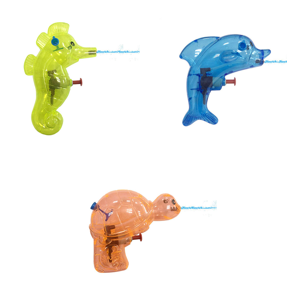 Children S Funny Toys 6PCS Randomly Delivery Mini Animal Shape Water Toy Kids Squirt Beach Toys Transparent Water Sprayers