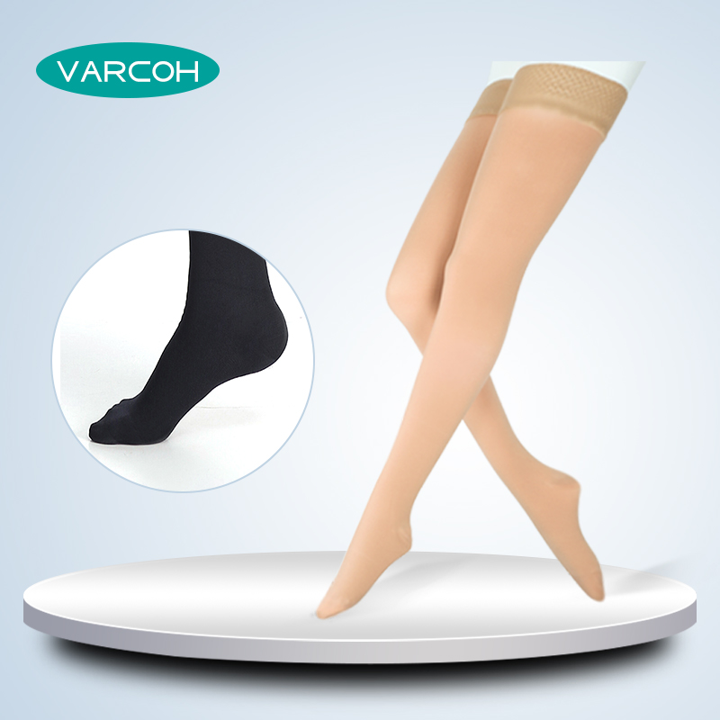 Thigh High Compression Stockings Extra Firm Support 30-40 MmHg Medical Gradient For Women & Men Varicose Veins Edema Swelling
