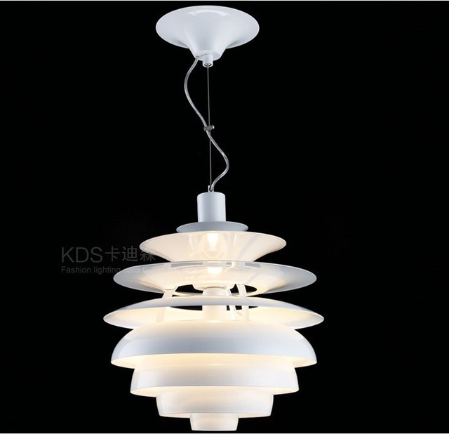 Denmark Modern Aluminium Lamp Lighting Designer Louis Poulsen PH Snowball  Lamp Pendant Light Hanging Lamp By