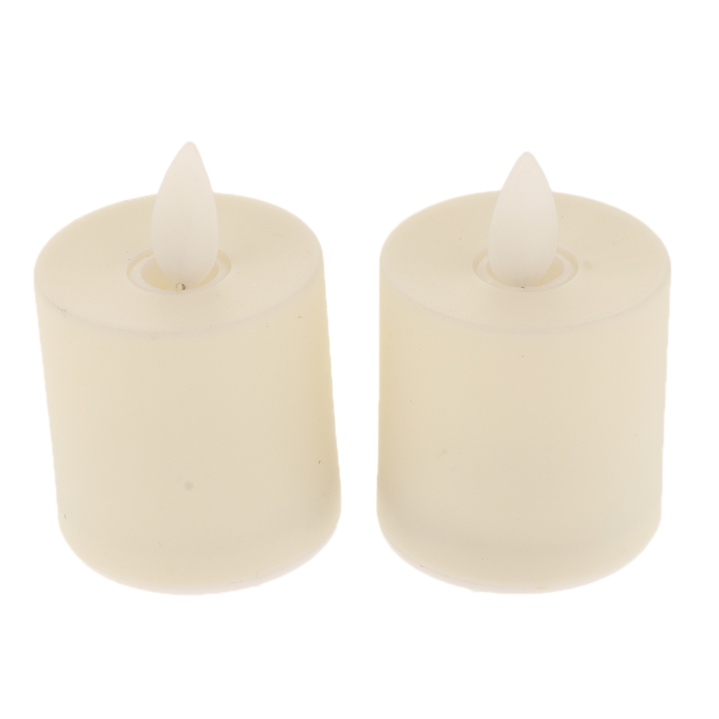 12Pcs LED Flameless Candles Candlelit Mood Light Holder Room Indoor Decor Tabletop Candle Lights Romantic