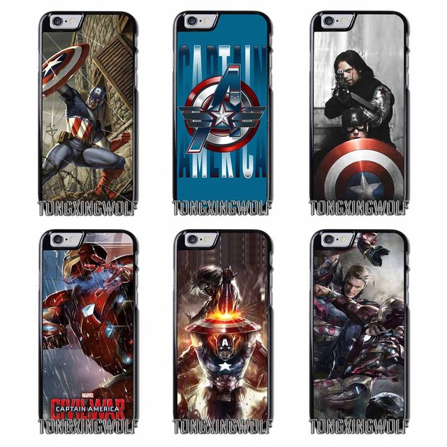 new arrival 59e91 121ae US $4.99 |Captain America Civil War Cover Case For Iphone 4 4s 5 5c 5s se 6  6s 7 8 plus x xiaomi redmi note oneplus 3 3T 4X 3s-in Half-wrapped Case ...