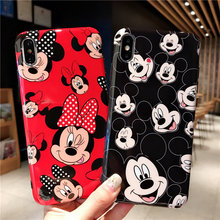 For Couple Minnie Micky Mouse Case iPhone 11 11Pro Max 8 7 6 6S Plus Case IMD Soft TPU Back Cover For iPhone X XR XS Max Case rugged tpu case for iphone 11 pro max case iphone x xs xr 6 6s plus 7 plus 8 plus iphone11 11pro cloth back cover elk deer shell