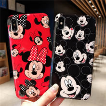Para o Casal Minnie Mickey Mouse Caso Do iPhone 11 11Pro Max 8 7 6 6S Mais Caso IMD TPU Macio caso Tampa traseira Para o iphone X XR XS Max(China)