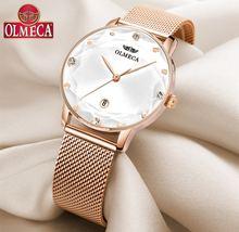 Спортивные женские часы olmeca роскошные брендовые водонепроницаемые
