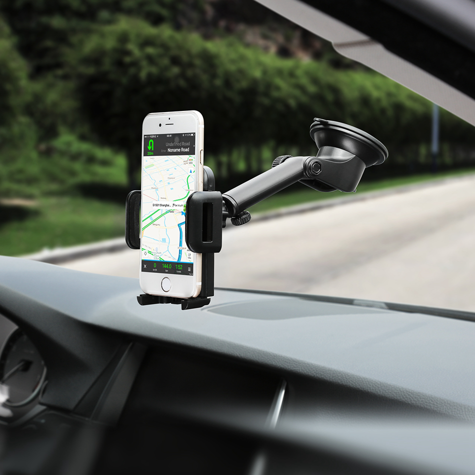 Mpow universal adjustable dashboard cellphone car mount holder with strong sticky gel pad for iphone 7