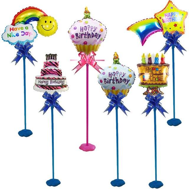 Happy Birthday Party Diy Decorations Table Top Balloon Column Base