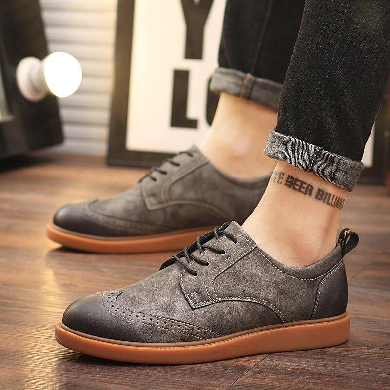 De Brogue Homens up Ferramentas Moda Bullock Dos Lace Britânico Brown Vintage Sapatos Respirável Brown Casual Do Venda gray Esculpir Quente yellow Couro Flats xY7w4EqqS