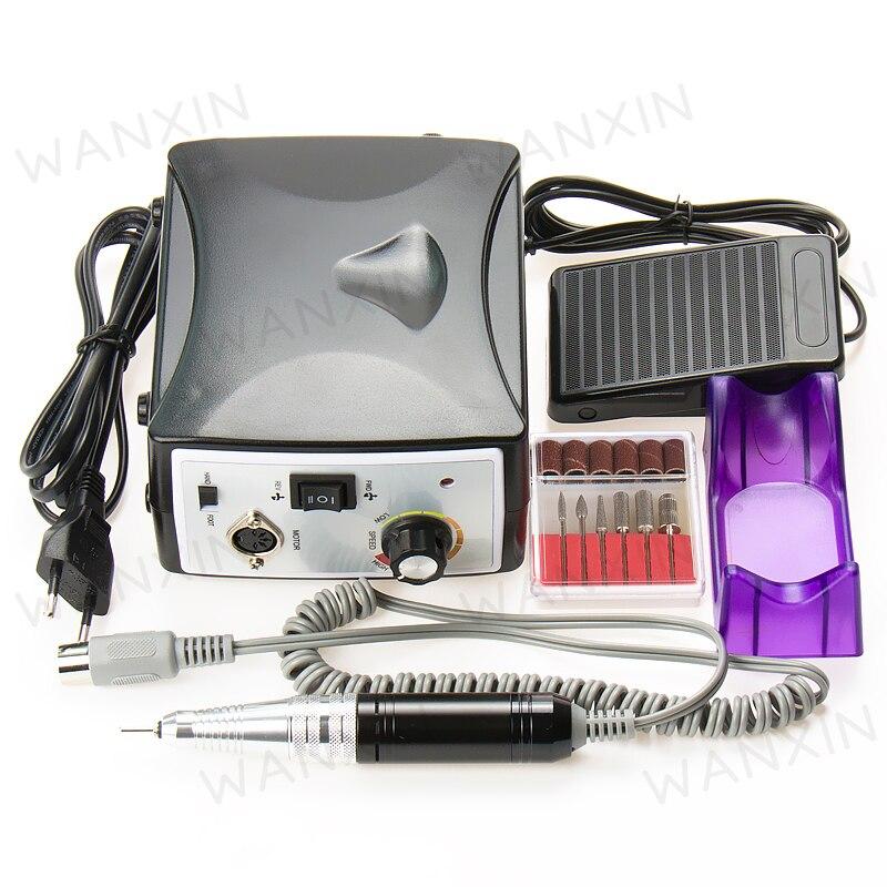 Pro Electric Nail Art Drill File Machine Manicure Kit 35000 RPM Nail Tools Set rebune 65w pro electric nail drill