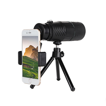 Compact 10x42 Monocular Telescope for Mobile Phone Black HD Waterproof Dual Focus Green Film Coated Outdoor Sports Monoculars