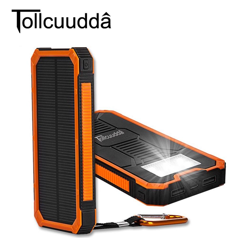 imágenes para 10000 Mah Cargador Solar de Batería Externa Solar Power Bank Cargador Portátil de 2 Puertos USB para Smartphone para El Iphone