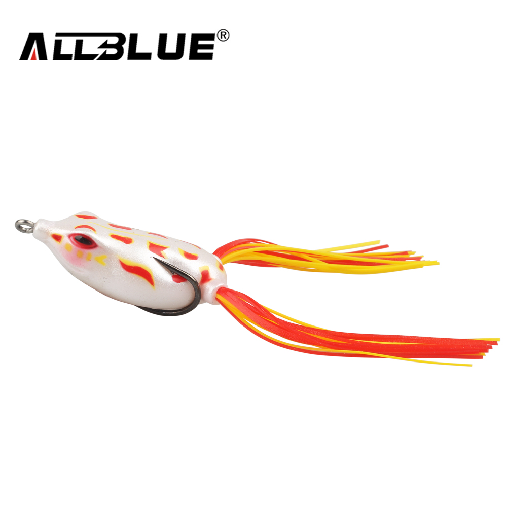 ALLBLUE High Quality Kopper Live Target Frog Lure 50mm/6g Topwater Simulation Frog Snakehead Lure Fishing Lure Soft Bass Bait
