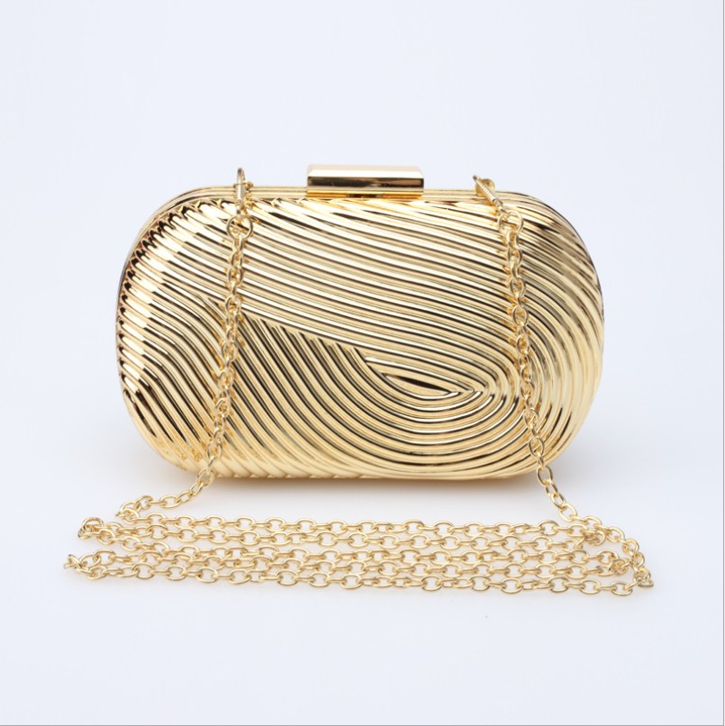 Woman Evening bag Women Gold Clutches Crystal Day Clutch Wallet Wedding Purse Party Banquet Black/Gold/Silver