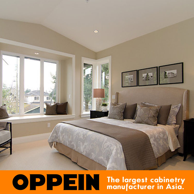 Moderno, stile queen letto in tessuto mobili per camera da letto WB ...