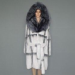 Pelliccia reale del cappotto di pelliccia naturale lexus rex del coniglio cappotto di pelliccia donna pelliccia di volpe collare 23