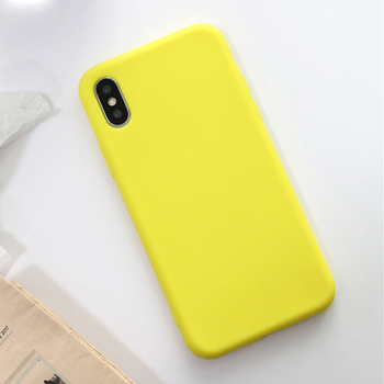 iPhone X Case Yellow Silicone