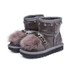 Детские валенки для Обувь для девочек зимняя обувь Дети Снегоступы милые Сгущает дышащий Сапоги с бантами теплые и удобные Водонепроницаемый