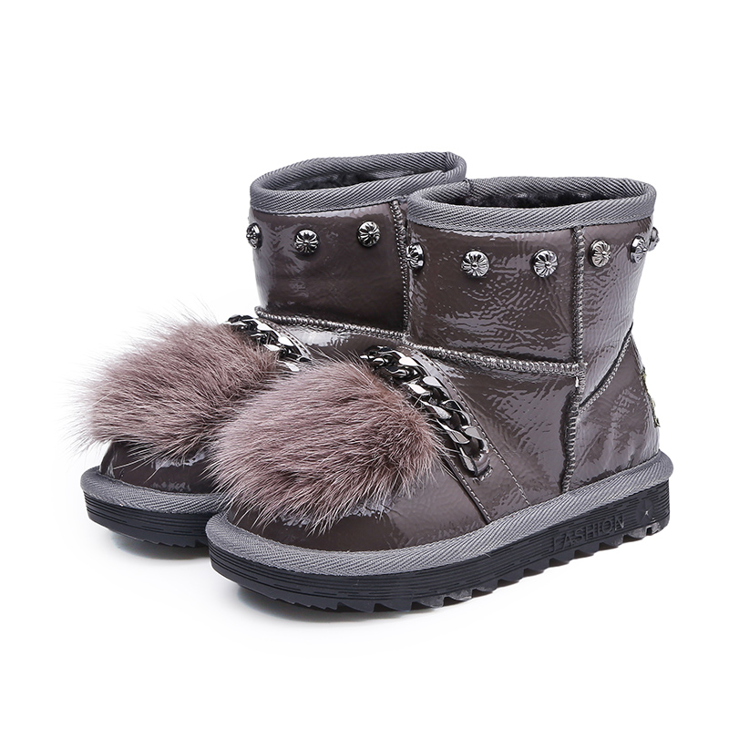 Children's Felt Boots For Girls Winter Shoes Kids Snow Boots Cute Thicken Breathable Bow Boots Warm and Comfortable Waterproof kelme 2016 new children sport running shoes football boots synthetic leather broken nail kids skid wearable shoes breathable 49