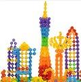 150pcs Children Kid Baby Toys Multicolor Building Blocks Snowflake Creative Educational Construction Plastics Toys