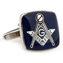 High quality Stainless Steel Mens Jewelry Masonic Cuff links Lodge Cufflinks For Freemasonry French shirt  Costume Accessories