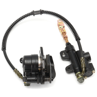 Rear Disc Brake Caliper Cable Cylinder Motorcycle Metal Black Replacement For 125CC 110CC ATV Pit Dirt Bike