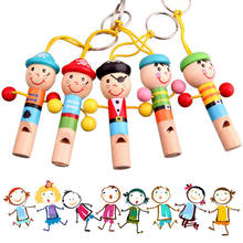Baby Kids Wooden Toy Pirates Mini Whistle Colorful Developmental Instrument Musical Toys Baby Doll Wooden Whistle