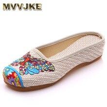068fddc1 MVVJKE zapatillas de mujer de verano de mariposa de moda chino viejo Peking  Casual flor Zapatos mujer Sandalias talla grande 41E.