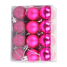 24pcs/lot 3cm Christmas Ball Tree Decor Bauble Hanging Xmas Party Ornament Decorations
