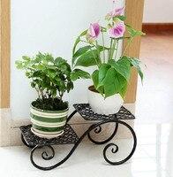Creative Classic Black White Brown Plant Stand Shelf Pot Decorative Metal Garden Patio Standing Plant Flower Pot Rack Shelf
