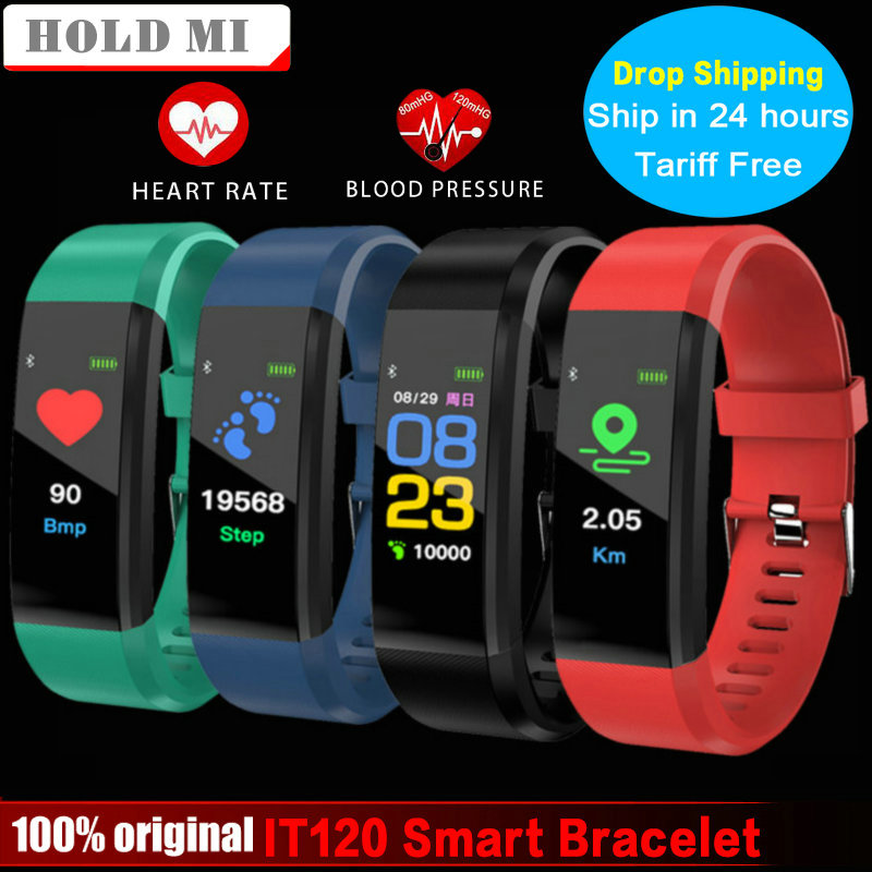 Smart Bracelet Hold Mi IT120 VS ID115 PLUS Sports Color Screen Smart Band Heart Rate Monitor Fitness Tracker for IOS Android