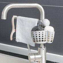 Tofok Sink Hanging Basket Rag Rack Set Kitchen Faucet Cleaning Drain Storage Soap Sponge Shelf Adjustable Home Organizer