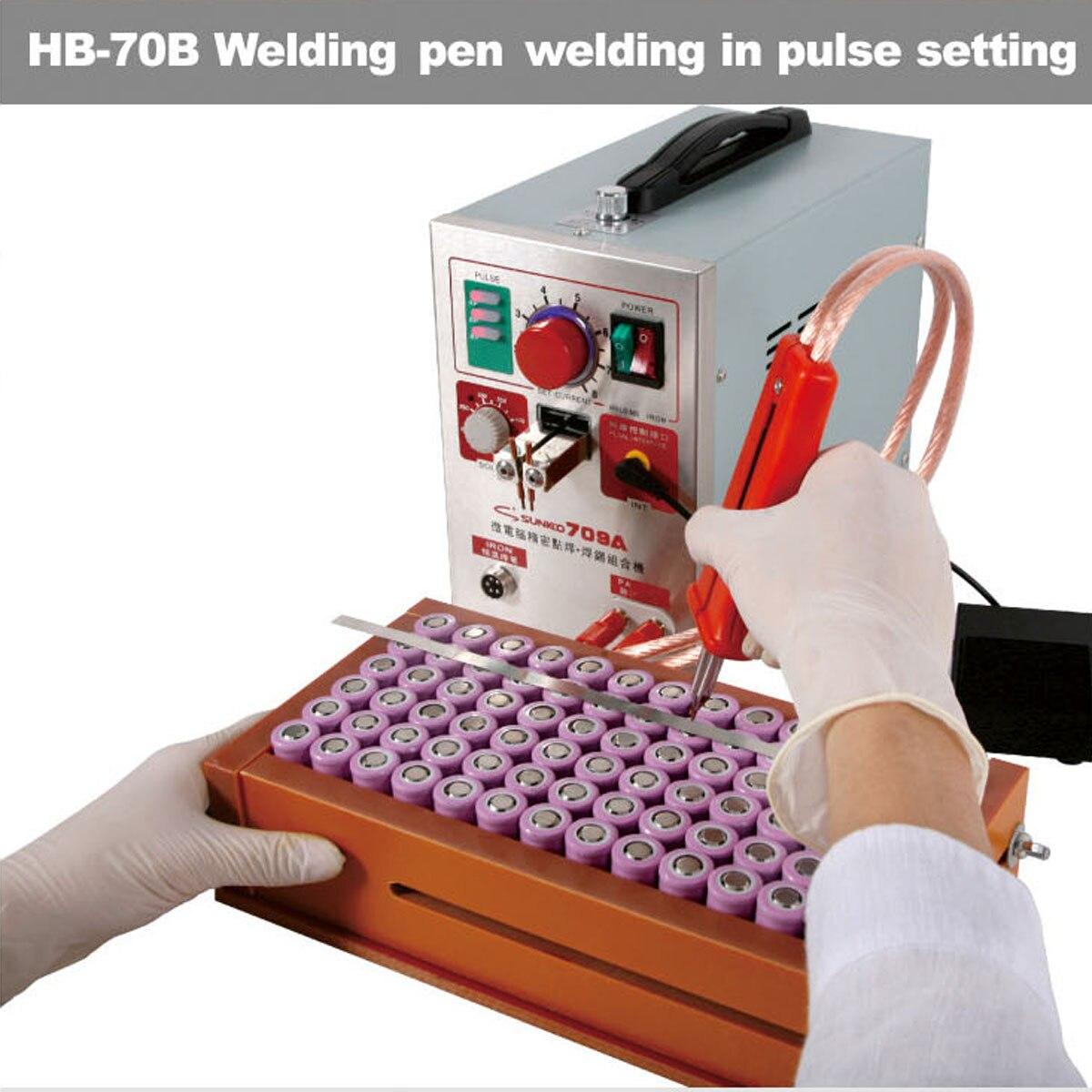 220 V 50Hz Spot Wel der Eu Plug 709A 1.9KW soudeurs par points 2/4/6/8 Machine de soudage par points pour 18650 batterie Pack Circuit imprimé soudure