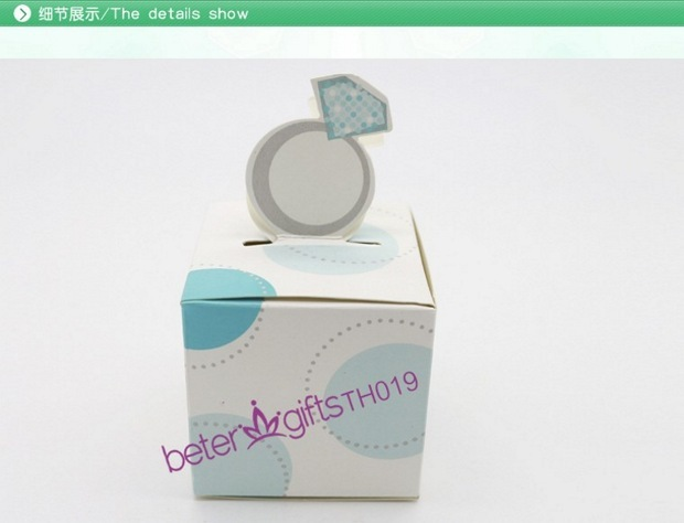 216pcs wedding candy bags wholesale Engagement Ring Favor Box TH019 christmas and home decor