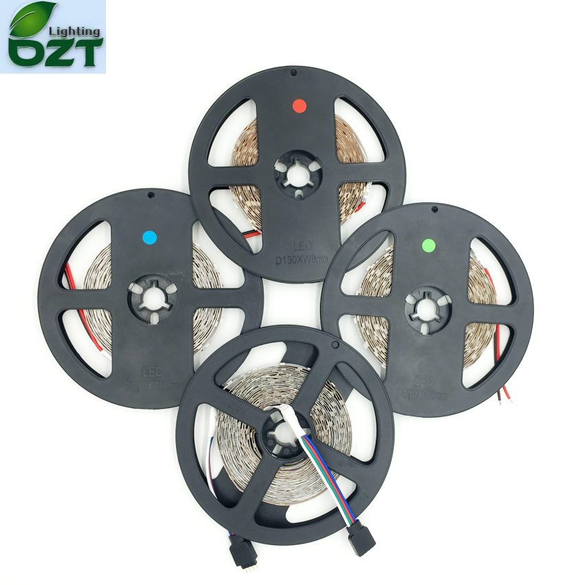 LED Strip SMD3528 5m 60led/m 300LED No Waterproof 12V RGB White Warm White Flexible Light LED Type Home Decoration Lamps