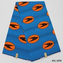 6 yard Hohe qualität Hollandias Wachs Stoff Afrikanischen nigerianischen baumwolle wachs für hochzeit partei garment & schuhe und tasche AYL-1069-1073
