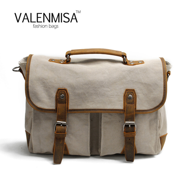 Valenmisa Canvas Bag Designer Handbags High Quality Crossbody For Women Men Laptop Briefcase Computer