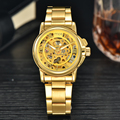MCE Female Gold Automatic Self-Wind Mechanical Watches Women Gold Skeleton Watch Fashion Ladies Watch
