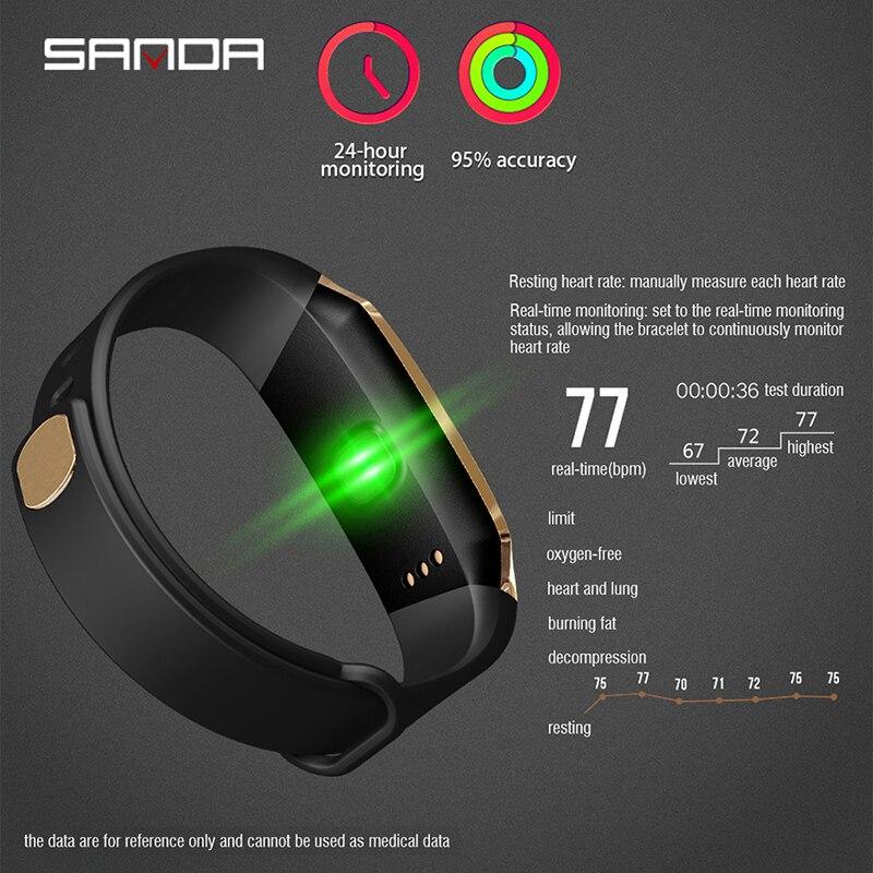 Спорт Multi function браслет для смарт часов напоминание о вызове usb часы мужские часы пульсометр напоминание о вызове будильник на запястье - 5