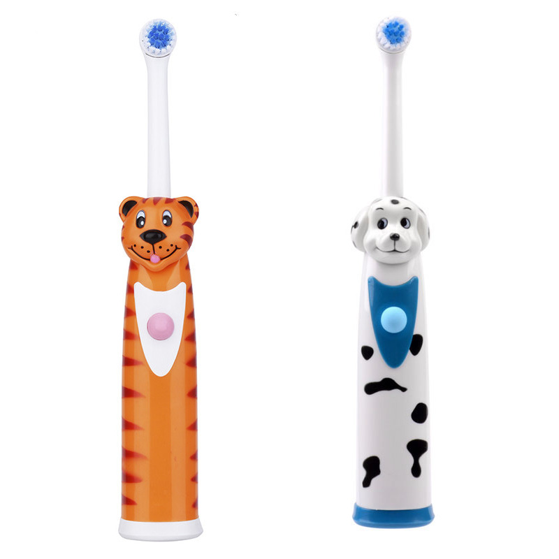Children Electric Toothbrushes Whitening Teeth Rotary Massage Soft Bristle Electric Toothbrush Baby Dental Care Tool For kid ultra soft children kids cartoon toothbrush dental health massage 1 replaceable head outdoor travel silicone retractable folding