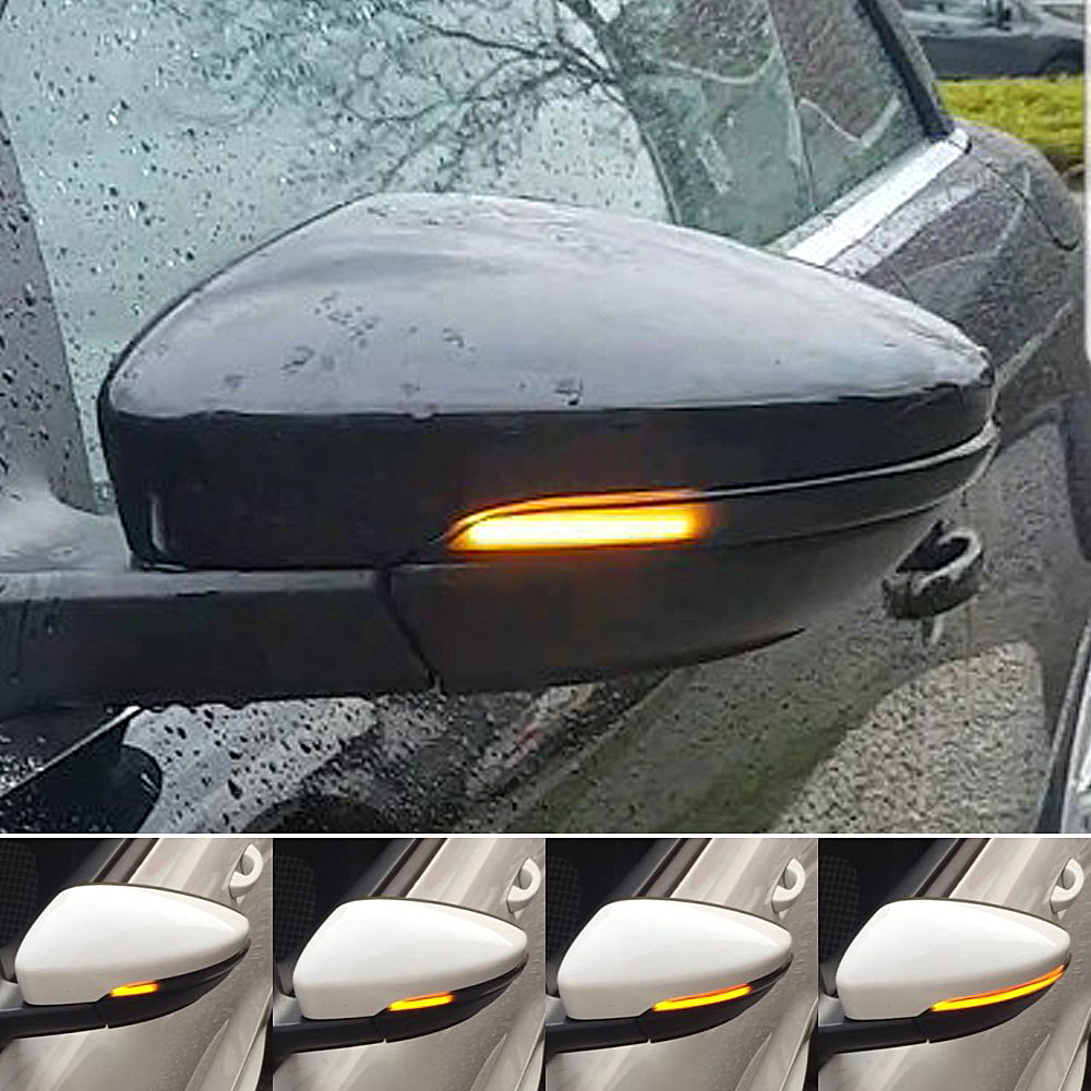 ANZULWANG For VW Passat CC B7 Beetle Scirocco Jetta MK6 Euro LED Side Wing Dynamic Turn Signal Light Rearview Mirror Indicator