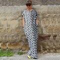 Плюс Размер Горячие Продажа Ограниченным Природным Ни Dress Maxi Женщины Знаменитости Горошек Свободные Длинные Платья Африканских Dashiki Vestidos