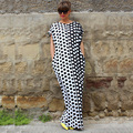 Plus size hot sale limitada nenhum naturais dress maxi mulheres vestidos celebridade polka dot soltos longos vestidos dashiki africano
