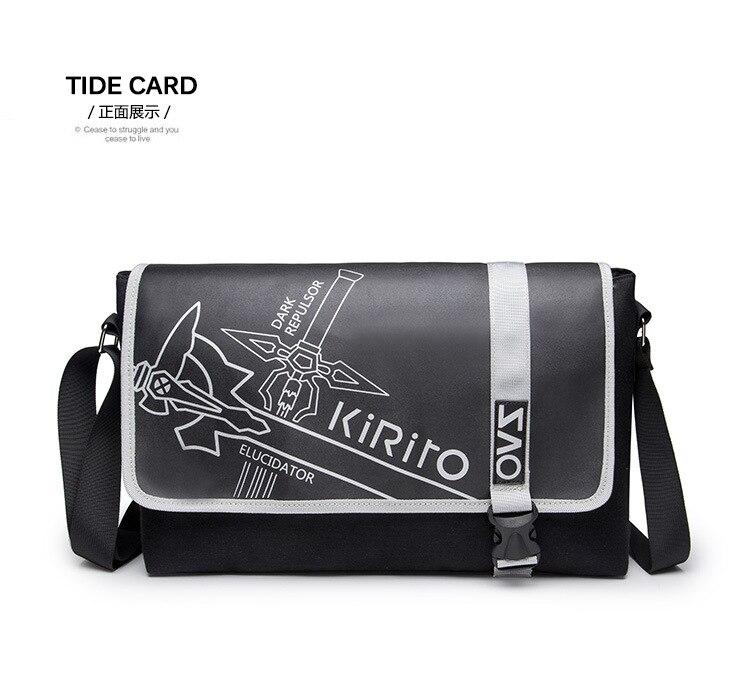 튼튼한 패션 애니메이션 어깨 가방 칼 예술 온라인 가방 캔버스 가방 애니메이션 가방 AB202