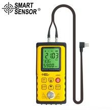 SMART SENSOR Digital Ultrasonic Thickness Gauge Meter Tester range: 1.0 to 300mm(steel) metal thickness measuring instrument