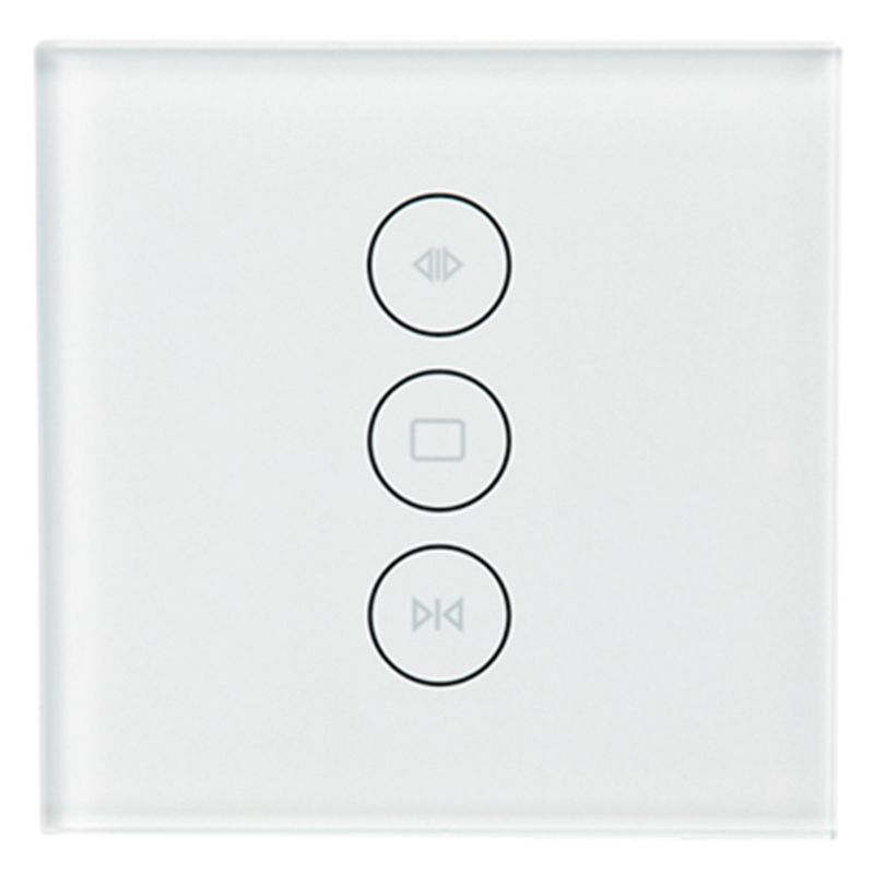 HOT-WiFi Smart Curtain Switch Glass Panel App Remote Control Works With Alexa And Google Home Or Electric Curtain Motor